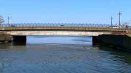 小樽運河から港に開いている水路 Footage