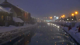 Otaru canal in winter Footage