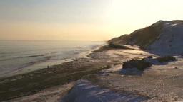 冬の海岸 夕日 Footage