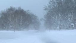 吹雪の道 Footage