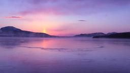 夜明けのサンピラーと凍る屈斜路湖 Footage