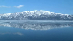 冬の屈斜路湖と藻琴山 Footage