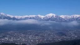 North Alps and ?machi city Footage