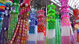 Sendai Tanabata Festival stock footage