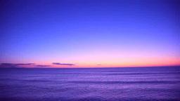 Sea at dawn Footage