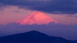 箱根大観山から望む朝焼けの富士山 Footage