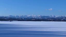 雪原の十勝平野と日高連峰 Footage