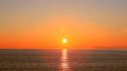 Sunrise from the sea Footage