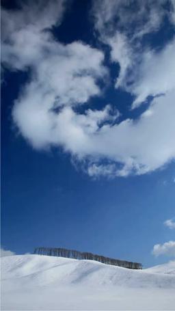雪原の丘と流れる雲 影片素材