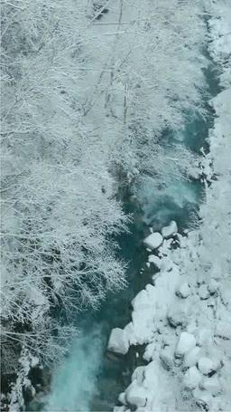 降雪の美瑛川 영상물