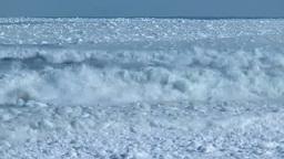 波にもまれる流氷 Footage