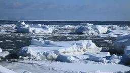 波に漂う流氷 Footage