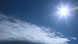 流れる彩雲と太陽 Footage