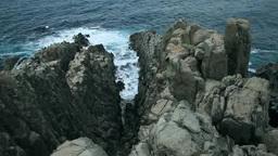 東尋坊と荒れる海 Footage