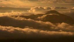 摩周湖より望む雨上がりの夕景と硫黄山 Footage