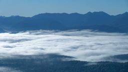 Sea of Clouds and Mountain Ranges Footage
