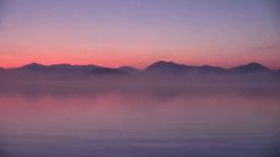 裏磐梯の夜明けの桧原湖 Footage