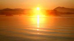 裏磐梯の日の出の桧原湖 Stock Video Footage