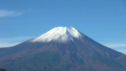二十曲峠から望む冠雪の富士山 Footage