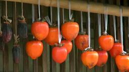 軒下の干し柿 Stock Video Footage