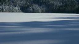 雪に覆われたオンネトーと阿寒富士と雌阿寒岳 Footage