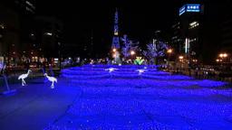 Sapporo white illumination Stock Video Footage