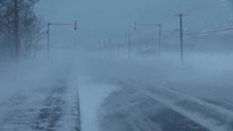 猛吹雪と道 Footage