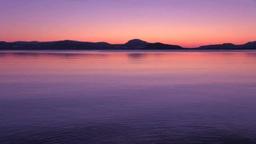 Lake Kussharo and the morning sun Footage