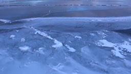 凍結の屈斜路湖 Stock Video Footage