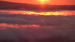 朝の美幌峠から雲海の屈斜路湖 Footage