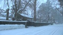 雪降る角館武家屋敷 Stock Video Footage