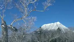霧氷と雄阿寒岳 Footage