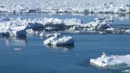 Drift ice in Okhotsk Sea Footage