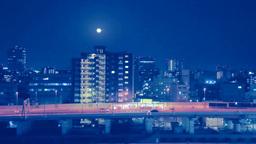 ビル街と首都高速の夜景 Stock Video Footage