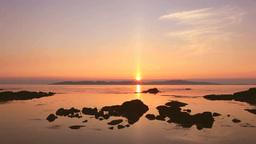 利尻島から礼文島に沈む夕陽 Footage
