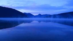 朝靄の然別湖 Footage