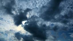 流れる雲と太陽 Stock Video Footage