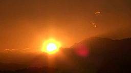 Sunrise from the mountain Stock Video Footage