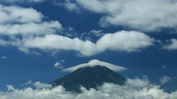 Mount Fuji and lenticular clouds Footage