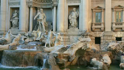 Trevi Fountain Stock Video Footage
