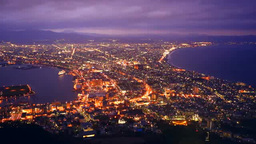 Night view of Hakodate Footage