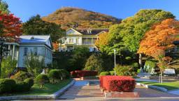 紅葉の元町公園と函館山 Footage