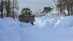 住宅街の除雪 Stock Video Footage