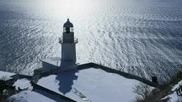 地球岬の光る海とチキウ岬灯台 Footage