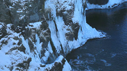 凍る湯の華の滝 Stock Video Footage