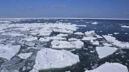 Drift ice of Nosappumisaki Stock Video Footage