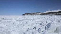 知床西海岸の流氷と知床連峰 Footage