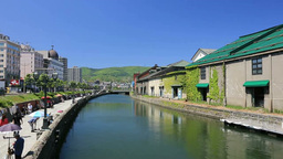小樽運河 Stock Video Footage