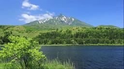 Mount Rishirifuji and Otatomari swamp Stock Video Footage