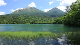 Onneto, Mt.Meakan, and Mt.Akanfuji Stock Video Footage